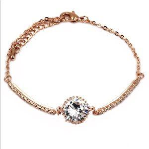 Fashion rose gold crystal bracelet